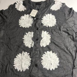 The Limited button front cardigan gray size XL